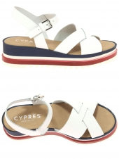 nu-pieds style ville cypres 11437 blanc