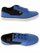 chaussures de skate basses dc shoes tonik tx bleu