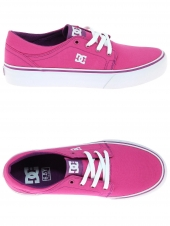 chaussures en toile dc shoes trase tx rose