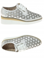 chaussures plates di lauro jc1817 argent