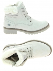 chaussures montantes fourrees dockers 43fa308-630-260 blanc
