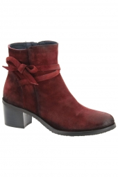 bottines de ville dorking d7335-ca rouge