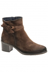 bottines de ville dorking d7335-ca marron