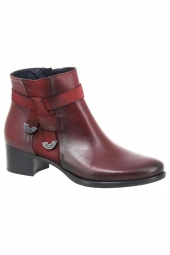 bottines de ville dorking d7632-sunb rouge