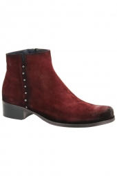 bottines de ville dorking d8091-ca rouge