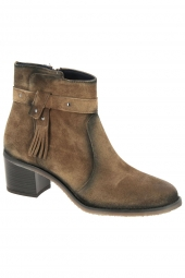 bottines de ville dorking d8390-ca marron