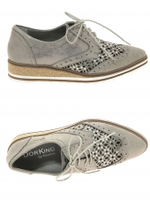 chaussures plates dorking d7878-bw taupe