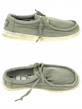 chaussures en toile dude wally washed vert