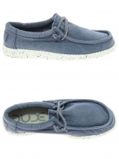 chaussures en toile dude wally washed bleu