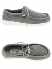 chaussures en toile dude wally washed gris