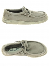 chaussures en toile dude wally washed beige