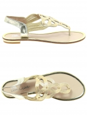 nu-pieds ella cruz 8y3923-803 or/bronze