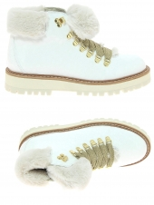 chaussures montantes fourrees fantasy gold 1 blanc