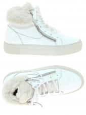 chaussures montantes fourrees fantasy silver 2 blanc