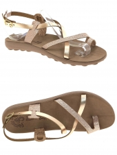 nu-pieds fantasy sandals lolita or/bronze
