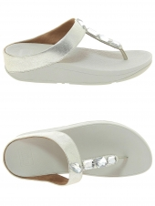 mules fitflop k05-011 roka toe argent