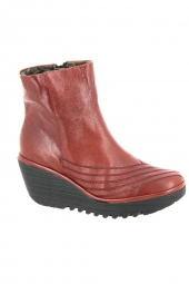 bottines fashion fly london yeni rouge