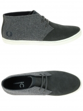 bf2353fa8cd chaussures en toile fred perry byron mid wool gris