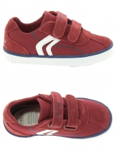 chaussures basses geox b82a7g-01022-c7004 rouge