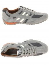 chaussures de style casual geox u4207k 02214 c1006 gris
