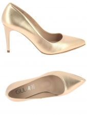 escarpins giulia giulia 8-vitelo dore light gol or/bronze