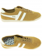 baskets mode gola bullet suede beige