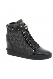 bottines casual guess furrley noir