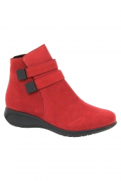 bottines casual hirica shelina rouge