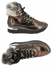 chaussures montantes fourrees hogl 4-100831-7000 or/bronze