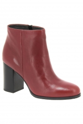bottines de ville iou 3650 rouge