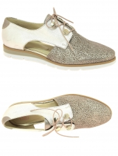 chaussures plates iou blanca or/bronze