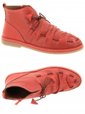 chaussures plates iou na115-1704 rouge