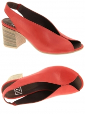 nu-pieds style ville iou 20ss18.06 rouge