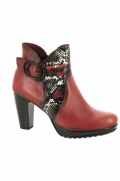 bottines de ville jose saenz 7169 pat rouge