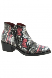 bottines fashion jose saenz 4322 texas rouge