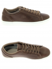 baskets lacoste straightset marron