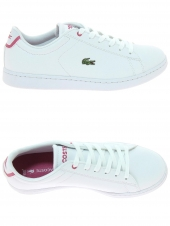 chaussures de sport lacoste carnaby evo bl1 blanc