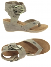 nu-pieds style casual les petites bombes naia taupe