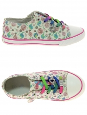 chaussures en toile little david birdy 2 blanc