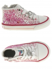 chaussures en toile little david flyer1 rose