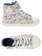 chaussures en toile little david spotty1 rose