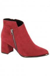 bottines de ville marco tozzi 25015-500 rouge