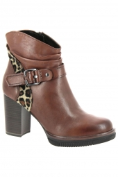 bottines fashion marco tozzi 25857-372 marron