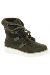 chaussures montantes fourrees mtng 58556 vert