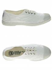 chaussures en toile natural world ingles bordado tintado blanc