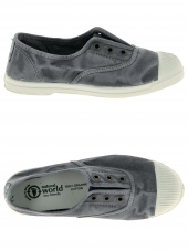 chaussures en toile natural world ingles elastico enzimatico gris