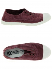 chaussures en toile natural world ingles elastico bordeaux