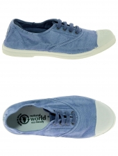 chaussures en toile natural world ingles elastico bleu