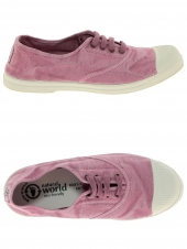 chaussures en toile natural world ingles elastico rose
