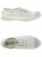 chaussures en toile natural world ingles tintado elastico cord blanc